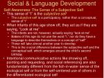 social language development23