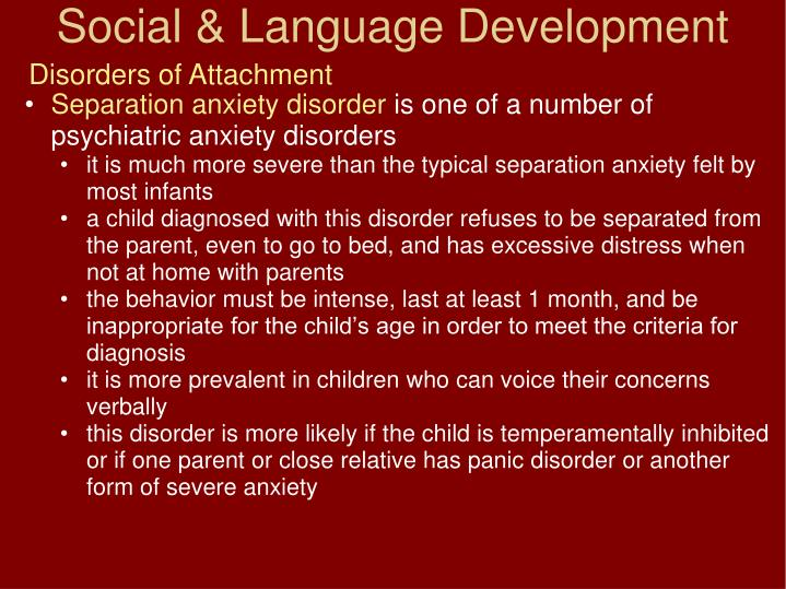 Disorders of Attachment