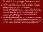 social language development74