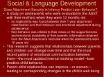 social language development78