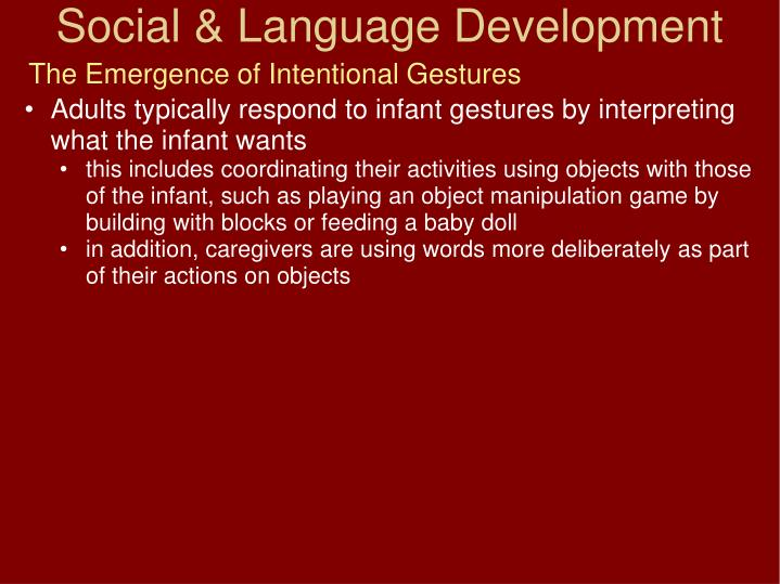 The Emergence of Intentional Gestures