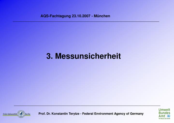 AQS-Fachtagung 23.10.2007 - München