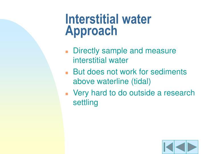 Interstitial water Approach