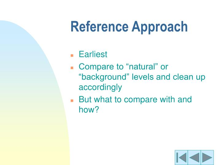 Reference Approach