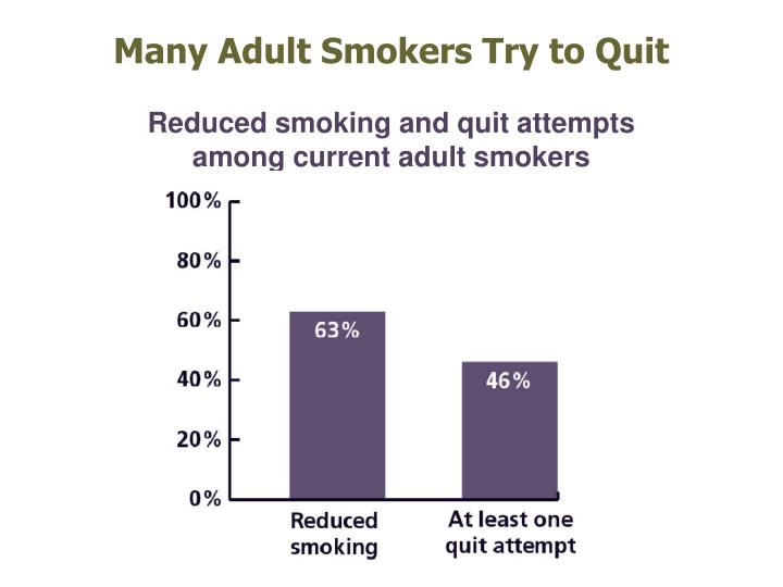 Many Adult Smokers Try to Quit