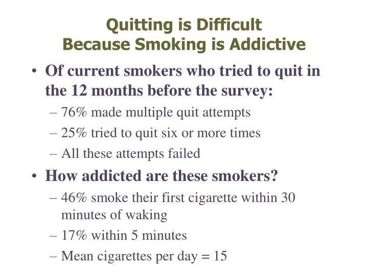 Quitting is Difficult