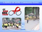 a ripple of hope community events