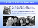 a ripple of hope our endowment