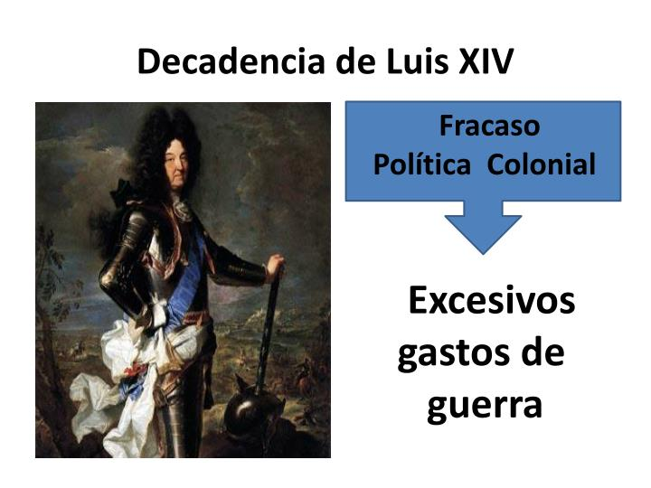 Decadencia de Luis XIV