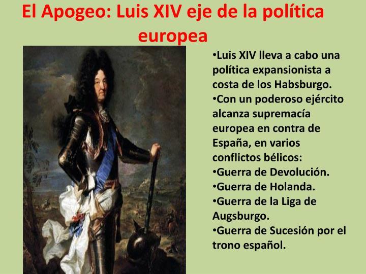 El Apogeo: Luis XIV eje de la política europea