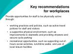 key recommendations for workplaces1