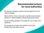 recommended actions for local authorities