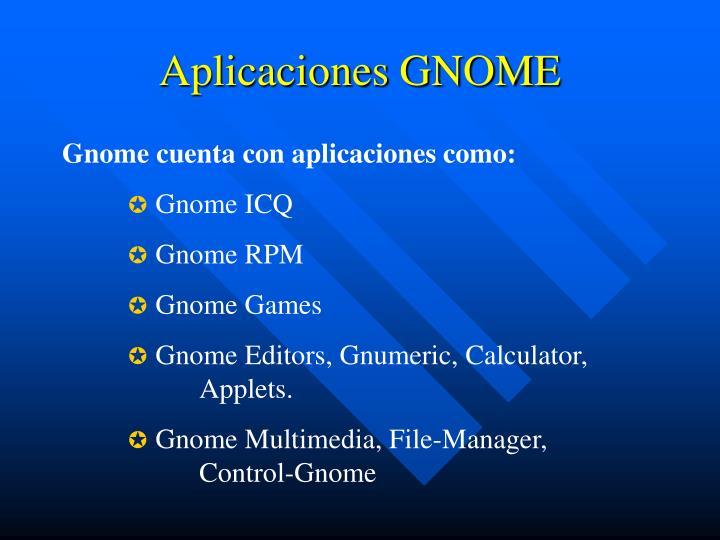 Aplicaciones GNOME