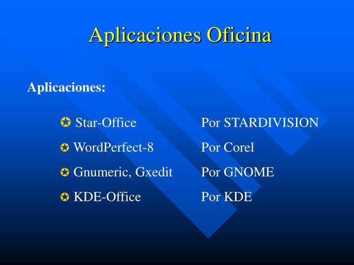 Aplicaciones Oficina