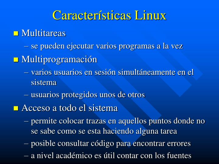 Características Linux