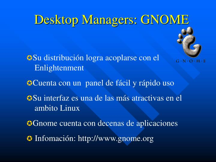 Desktop Managers: GNOME