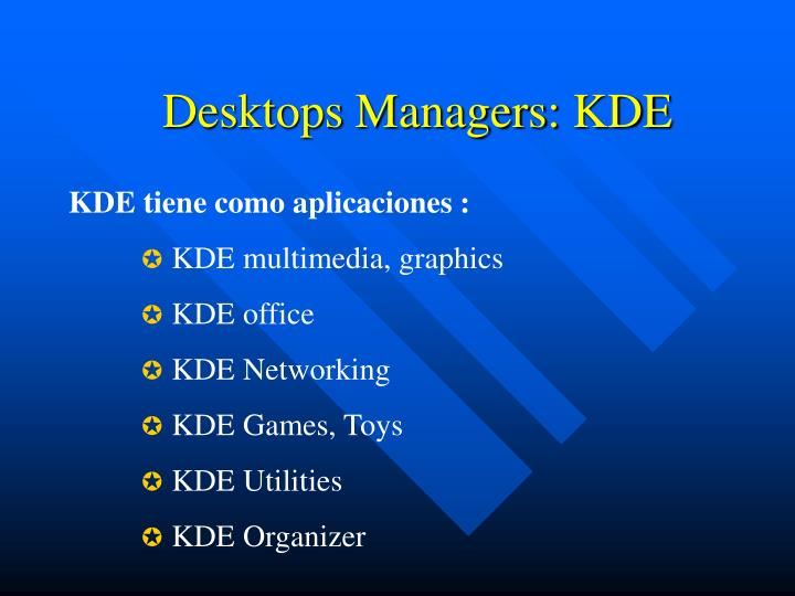 Desktops Managers: KDE