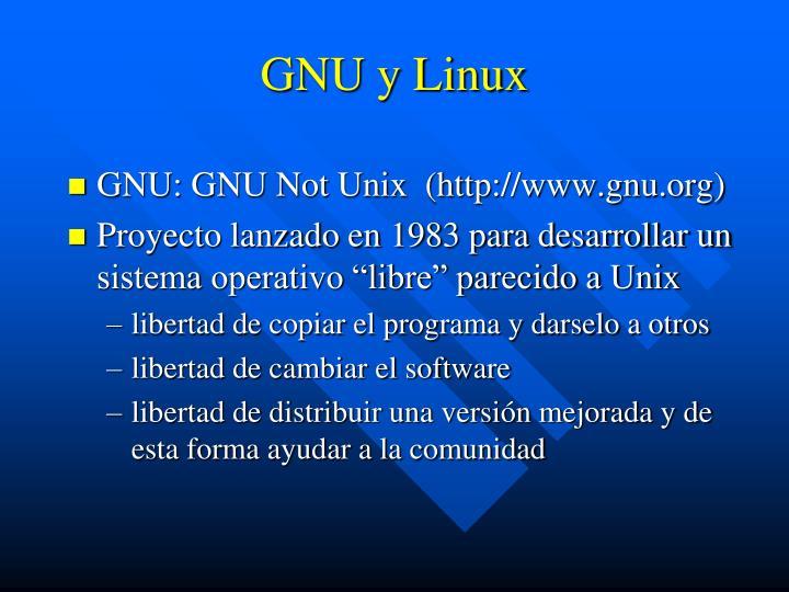 GNU y Linux