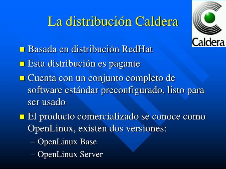 La distribución Caldera