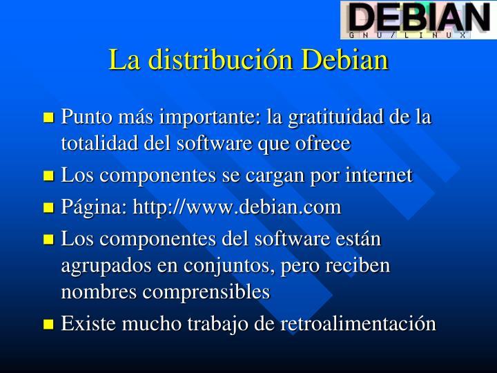 La distribución Debian