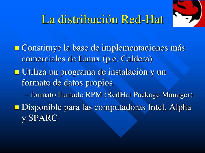 La distribución Red-Hat