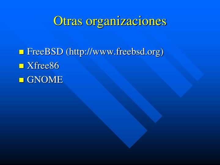 Otras organizaciones
