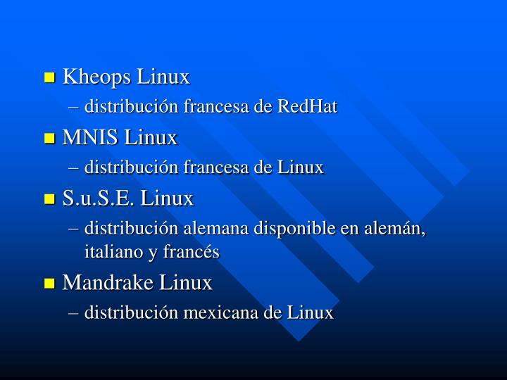 Kheops Linux