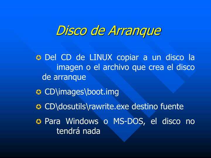 Disco de Arranque