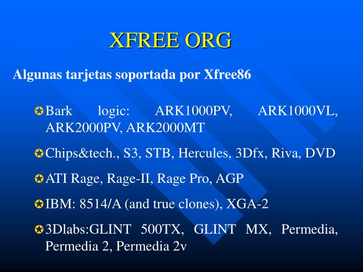 XFREE ORG
