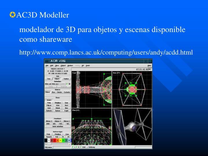 AC3D Modeller