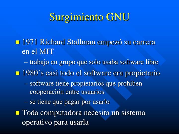 Surgimiento GNU