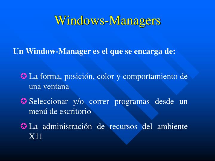 Windows-Managers