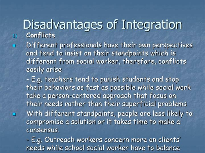 Disadvantages of Integration