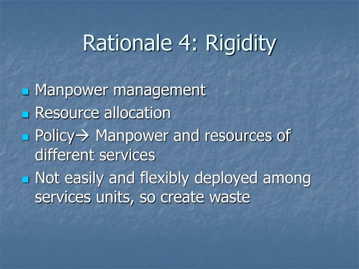 Rationale 4: Rigidity
