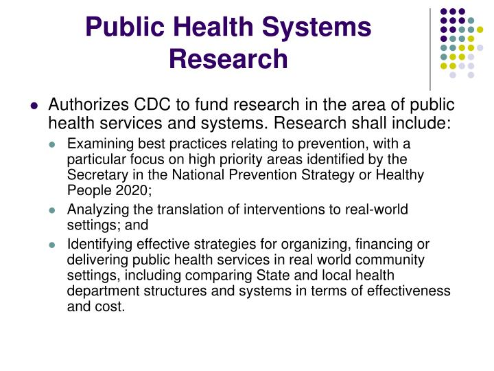 Public Health Systems Research