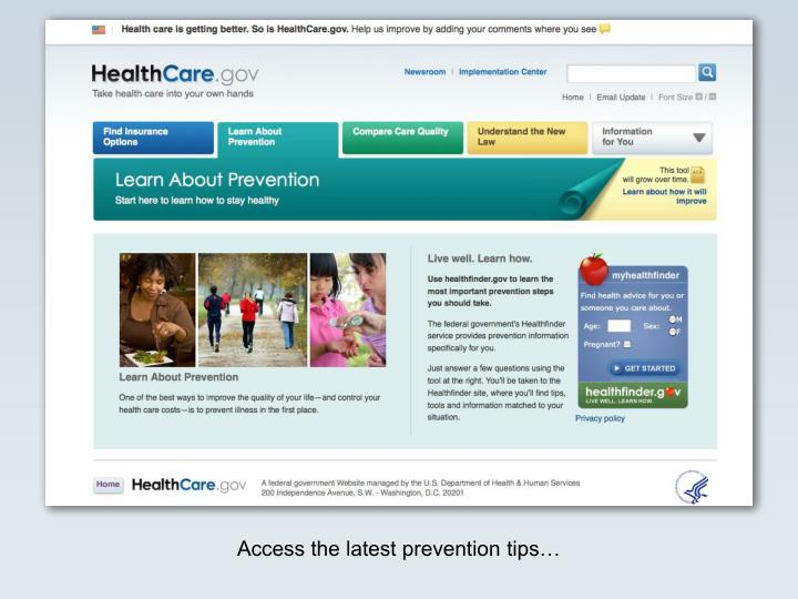 Access the latest prevention tips…