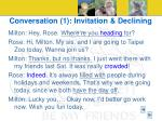 conversation 1 invitation declining