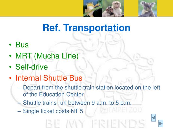Ref. Transportation