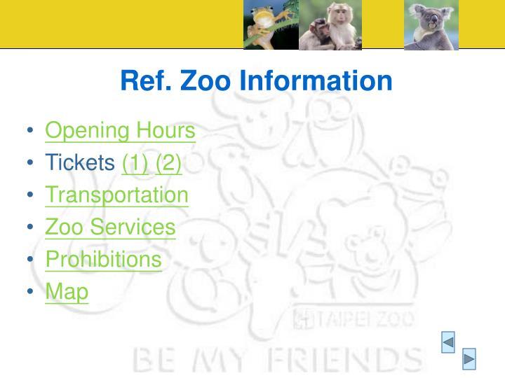 Ref. Zoo Information