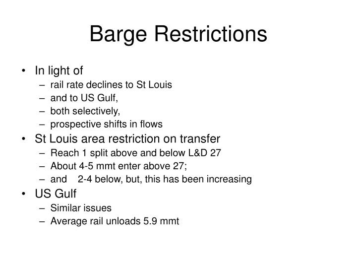 Barge Restrictions