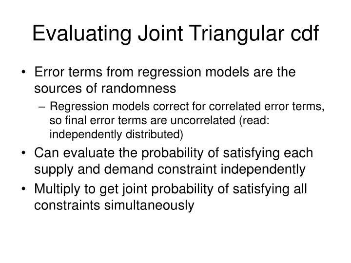 Evaluating Joint Triangular cdf