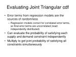evaluating joint triangular cdf