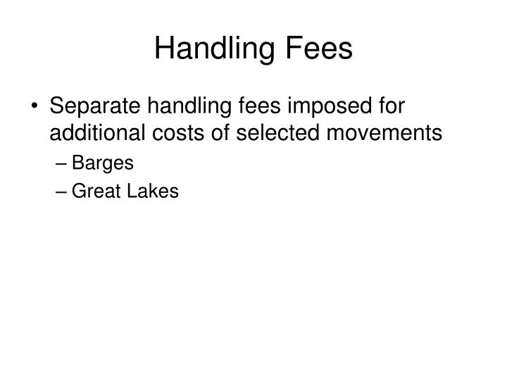 Handling Fees