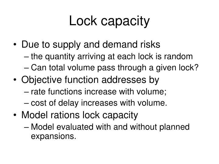 Lock capacity