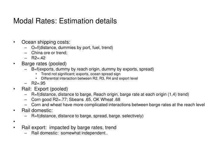 Modal Rates: Estimation details