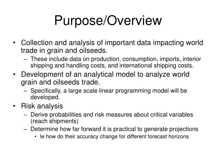 Purpose/Overview
