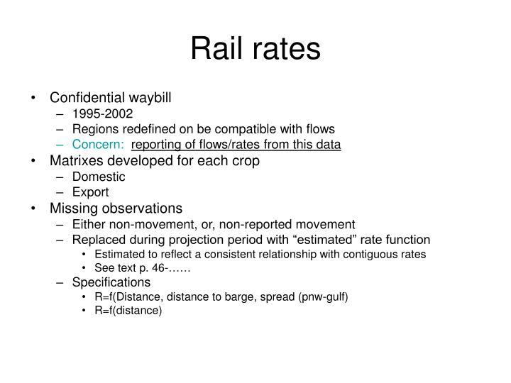 Rail rates