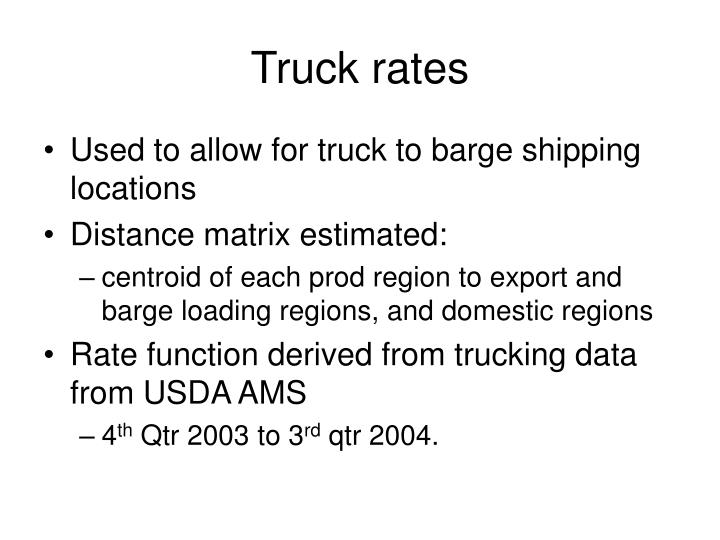 Truck rates