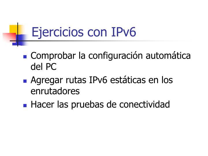 Ejercicios con IPv6
