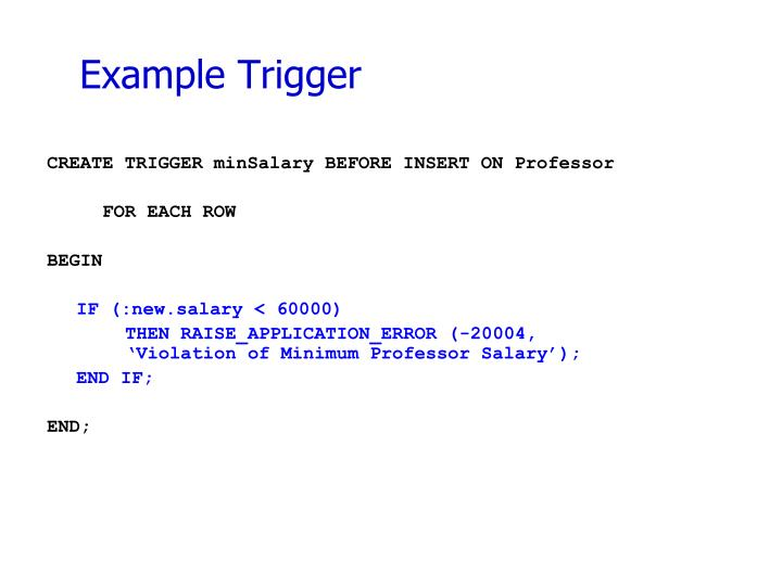 Example Trigger